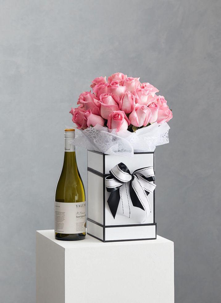 Rose Box & Wine